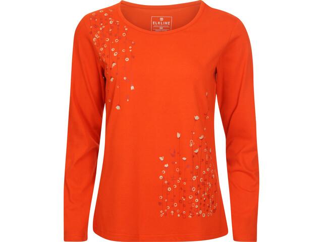 Elkline Dots Langærmet T-shirt Damer, darkorange